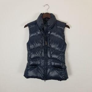 Add down navy blue puffer vest size 6